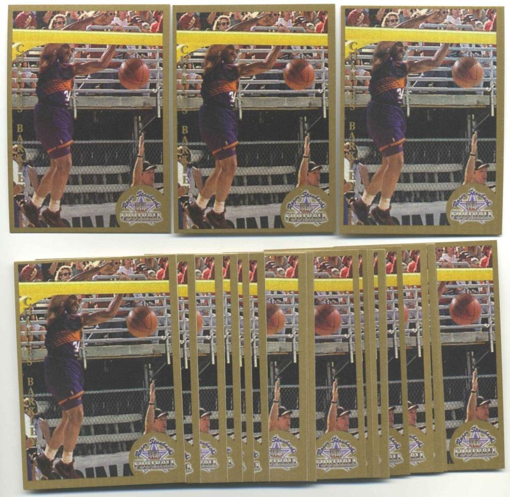 Lot of 50 1994-95 Ted Williams Company Charles Barkley #CB1 Insert Cards