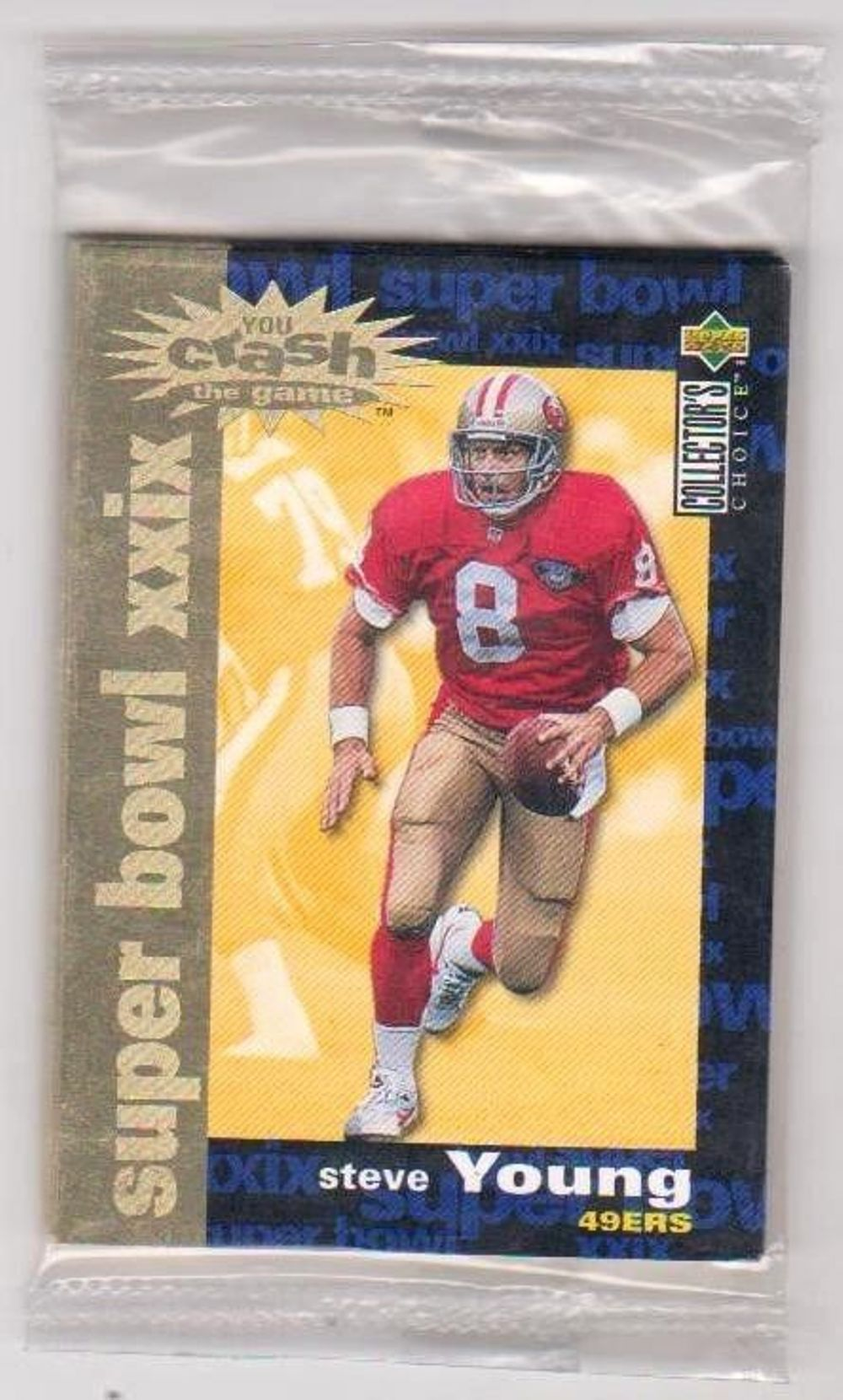 1995 Upper Deck Collector's Choice Super Bowl XXIX Crash The Game Sealed Set