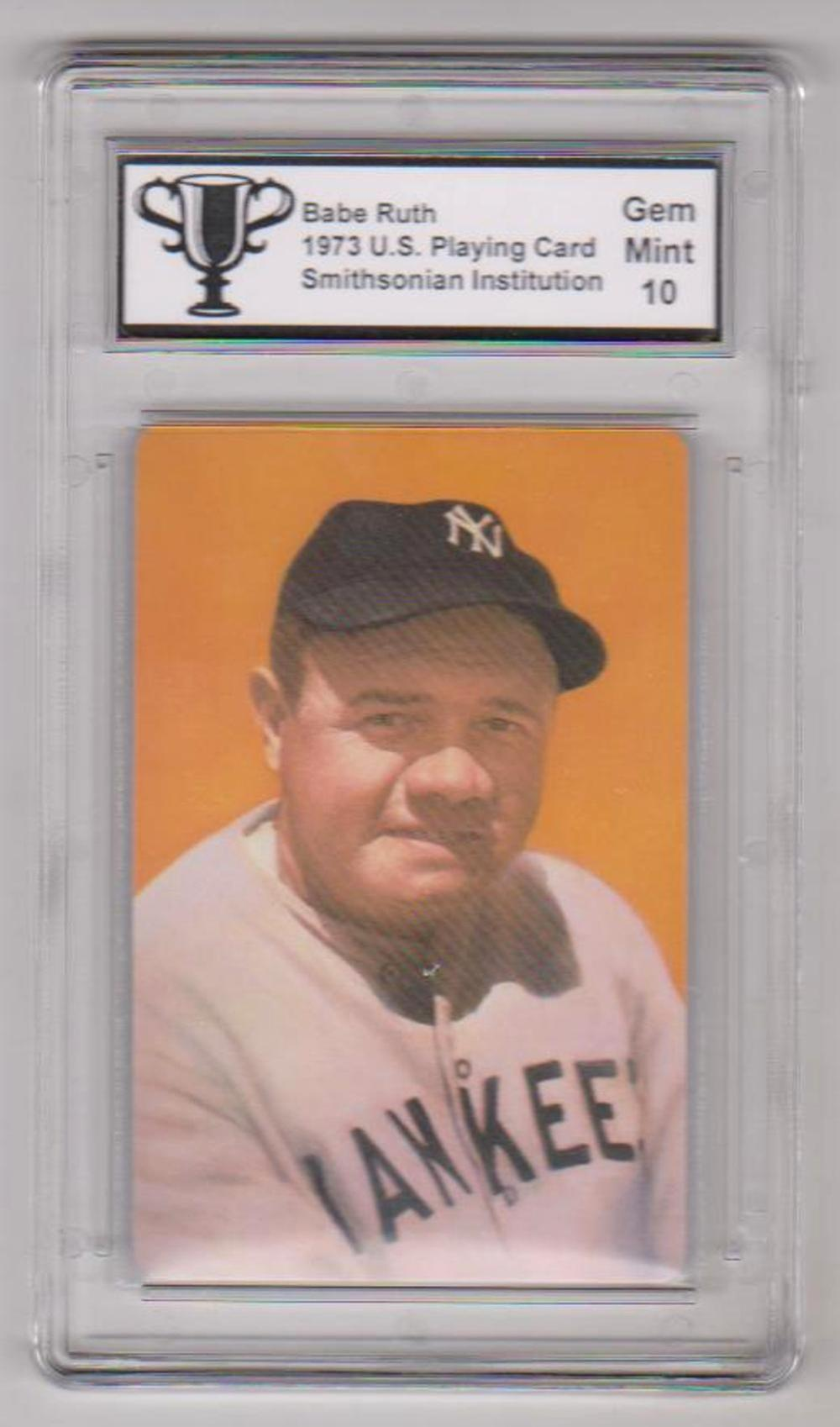 Graded Gem Mint 10 - 1973 Babe Ruth Smithsonian Institution U.S. Playing Card