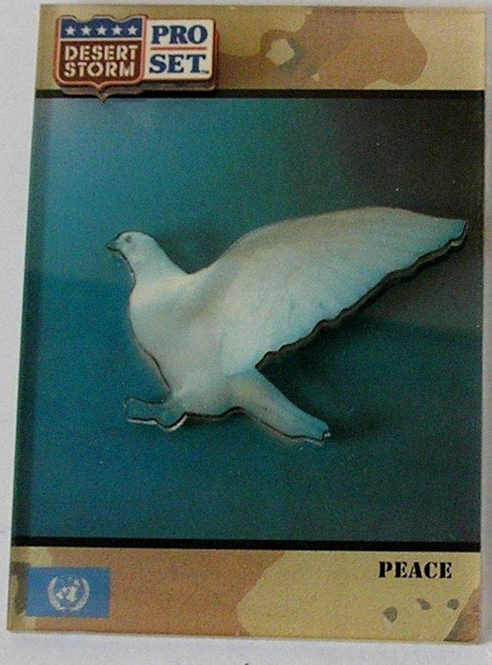 1991 Pro Set Desert Storm 3-D Lucite Peace Dove #250 - Rare Item