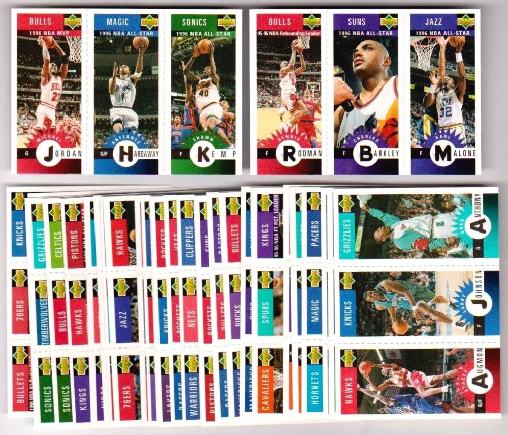 Lot of 3 1996-97 Collectors Choice Mini Cards Series One 30 Card Insert Sets
