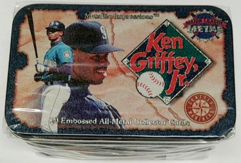 1995 Metallic Impressions Ken Griffey, Jr. 10 Card Metal Set - Sealed