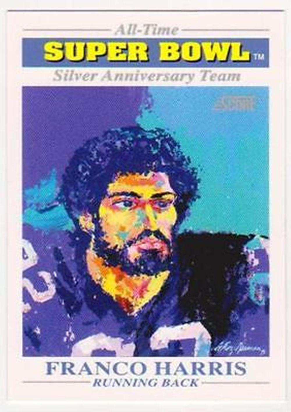 STEELERS 1991 SCORE FRANCO HARRIS LEROY NEIMAN SILVER ANN. TEAM - SCARCE