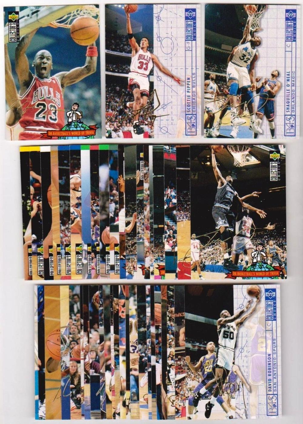 1994-95 Collectors Choice Italian Gold Signature Series 2 Insert Set w/ Jordan++