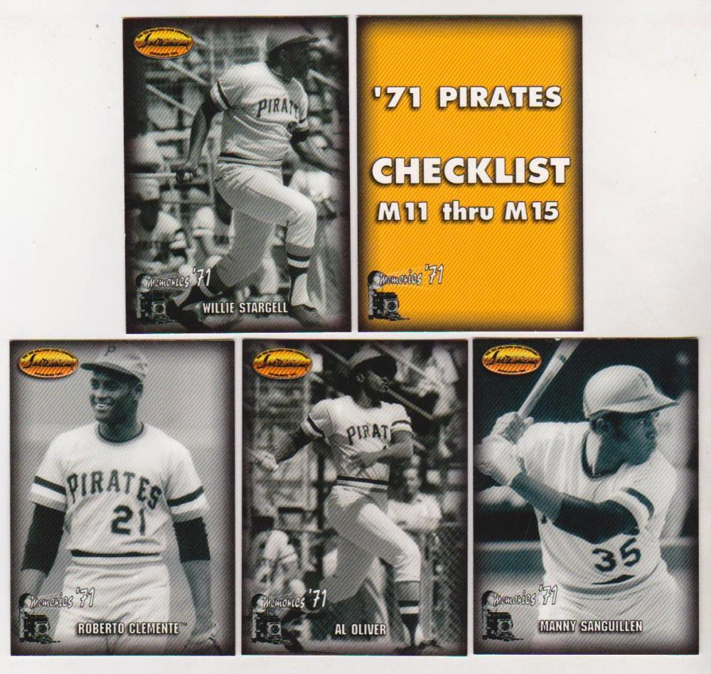 1993 Ted Williams Co. Memories 20 Card Insert Set - Roberto Clemente + More