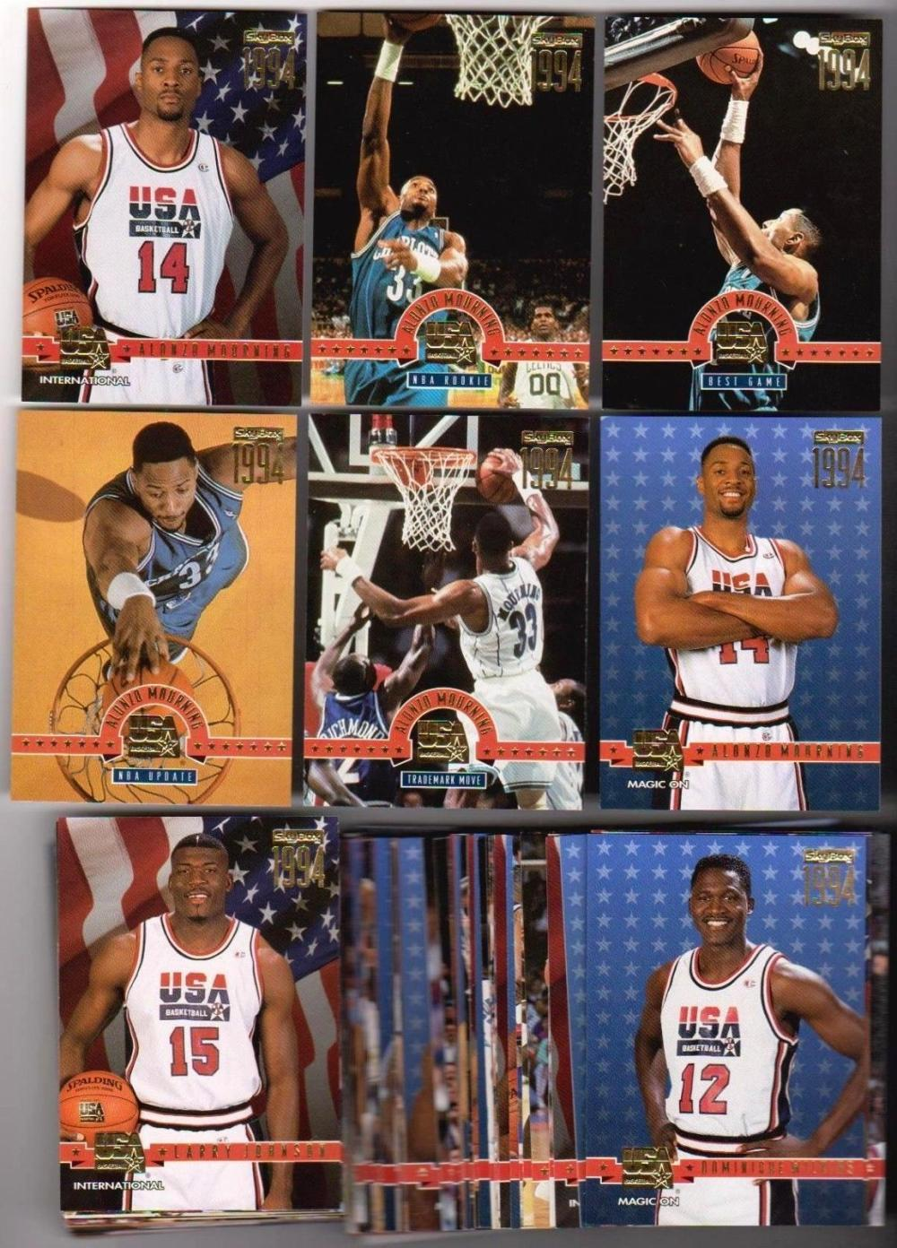 1994 Skybox USA Gold 89 Card Insert Set - Loaded With Stars