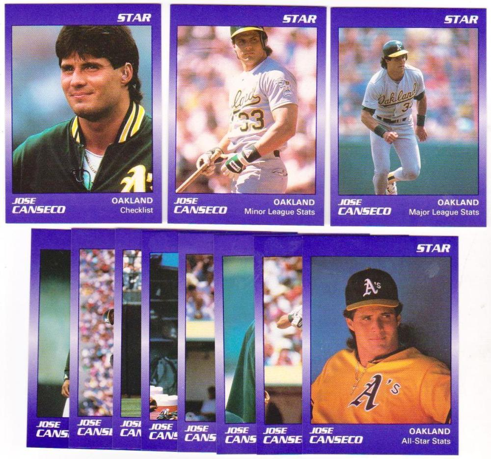 Lot of 5 1990 Star Jose Canseco 11 card sets - Cheap!
