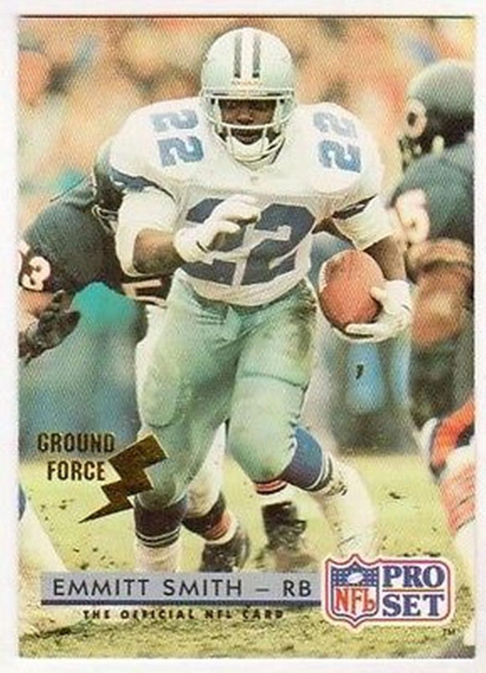 1992 Pro Set Ground Force Emmitt Smith #150 Insert Card