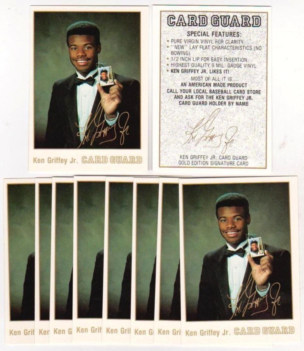 Lot of 10 Card Guard Ken Griffey, Jr. Gold Edition Signature Card Promos