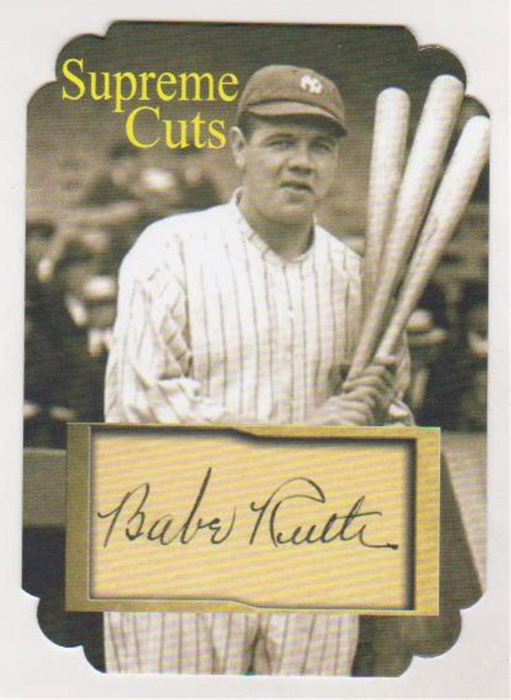 #4/5 Produced - Babe Ruth Supreme Cuts Facsimile Autograph Special Die Cut Card