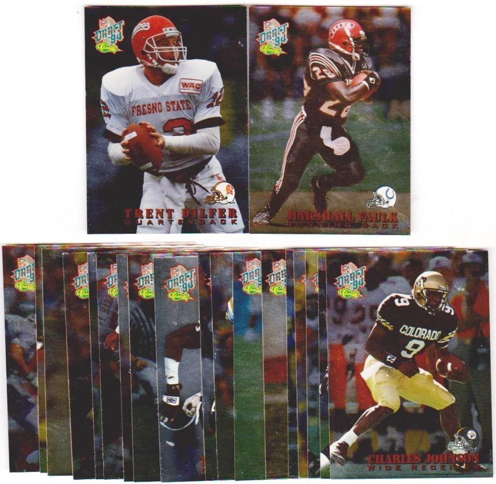 1994 Classic Draft Stars 20 Card Insert Set - Marshall Faulk, Trent Dilfer +++