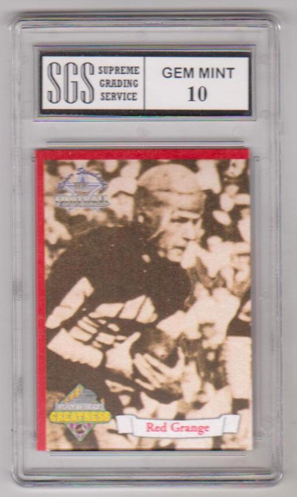 Graded Gem Mint 10 Red Grange 1994 Ted Williams Co. Path To Greatness RED #PG2 Card
