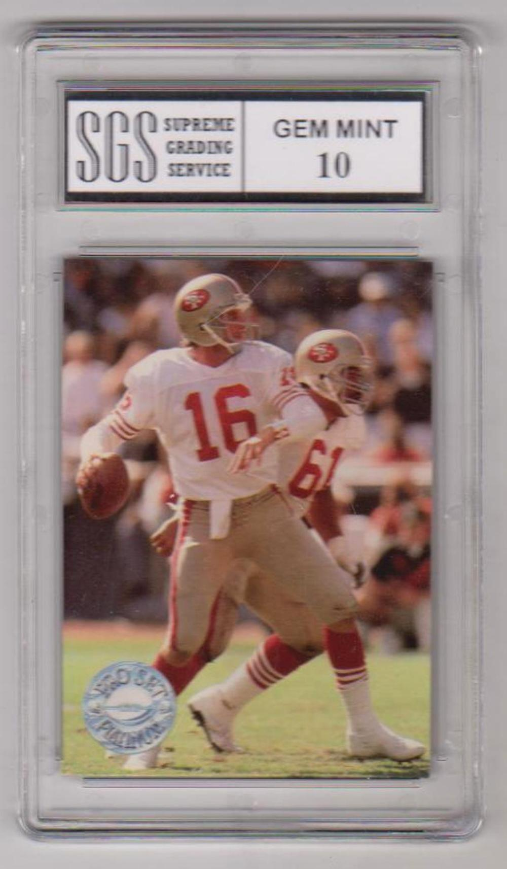 Graded Gem Mint 10 Joe Montana 1991 Pro Set Platinum #139 Card