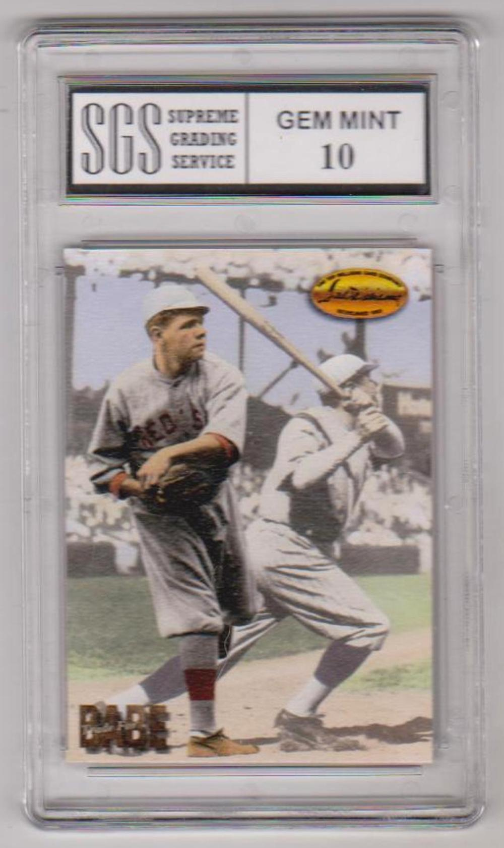 Graded Gem Mint 10 Babe Ruth 1994 Ted Williams Trade For Babe #TB2 Card
