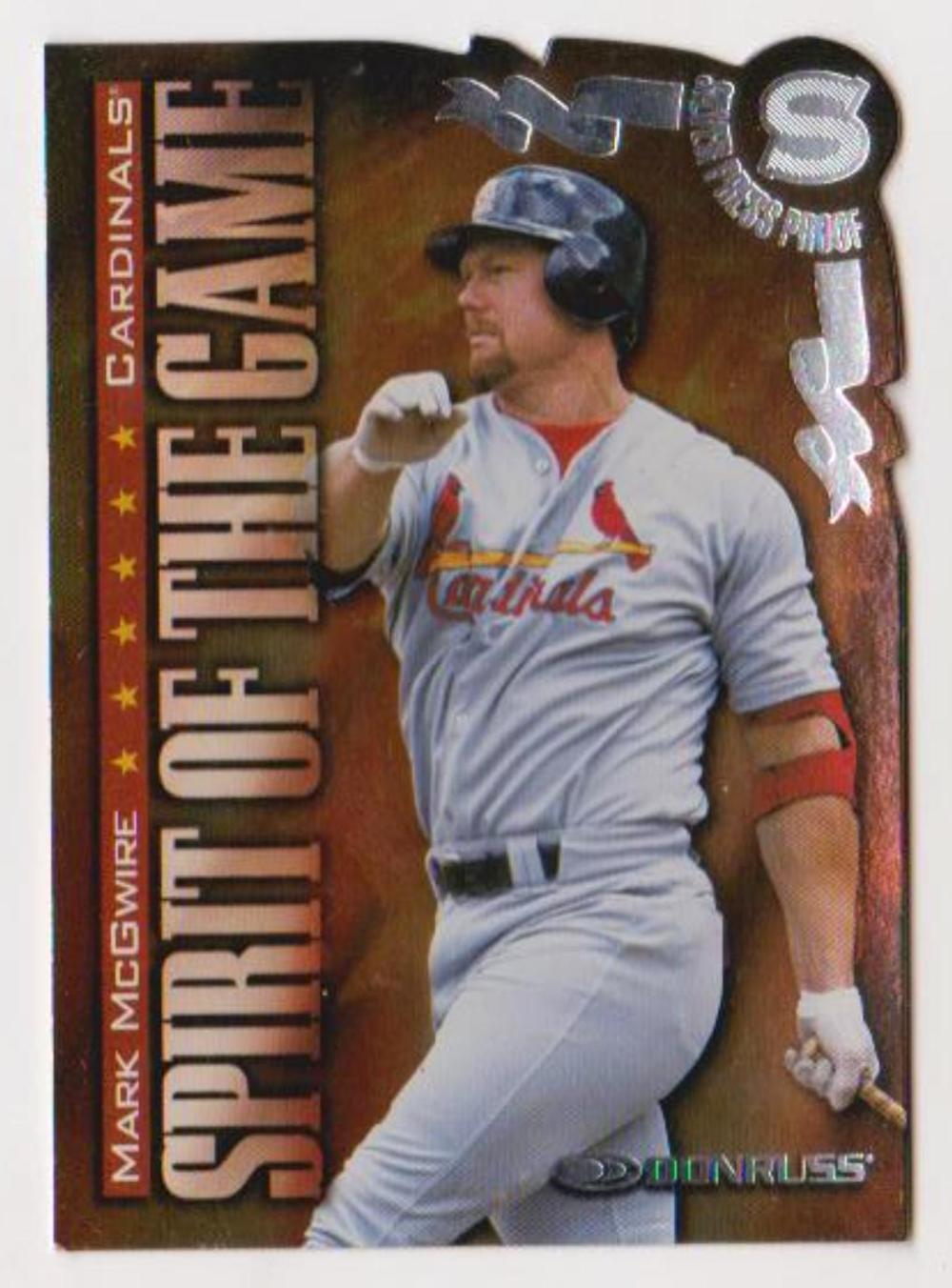 1998 Donruss Silver Press Proof Mark McGwire #401 Insert Card (1 of 1500)