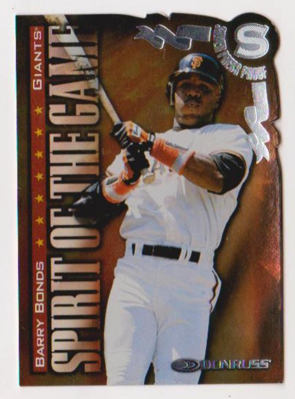 1998 Donruss Silver Press Proof Barry Bonds #414 Insert Card (1 of 1500)
