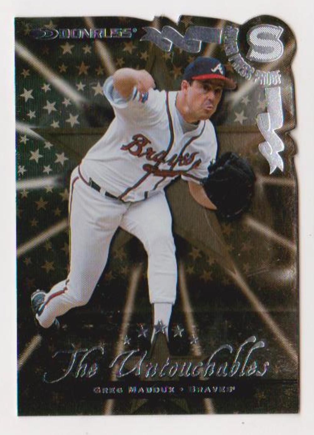 1998 Donruss Silver Press Proof Greg Maddux #380 Insert Card (1 of 1500)