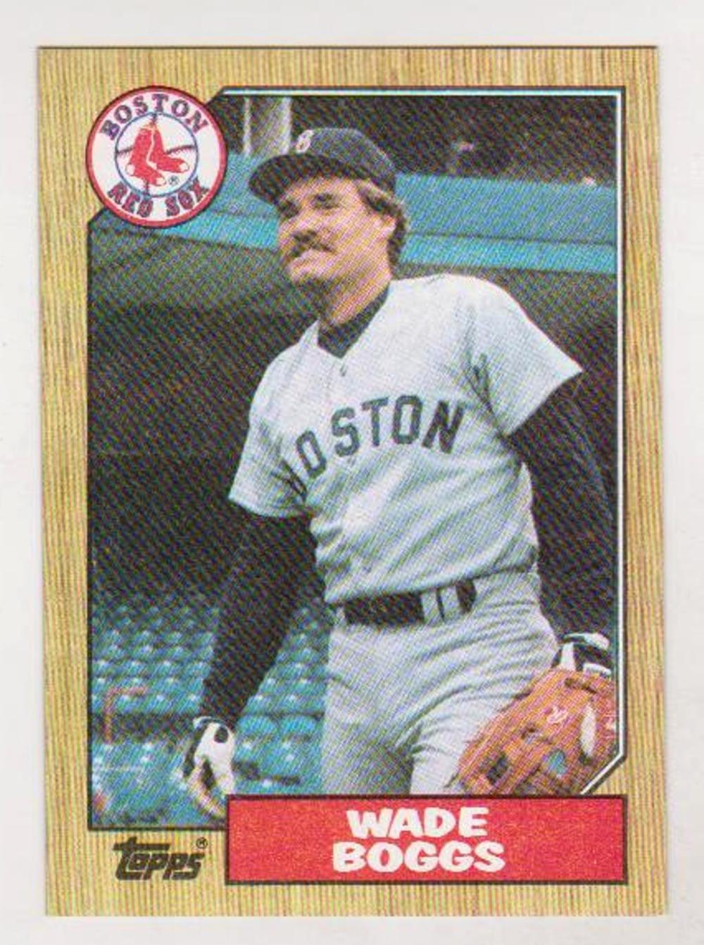 Error - 1987 Topps Wade Boggs Wrong Back Error Card
