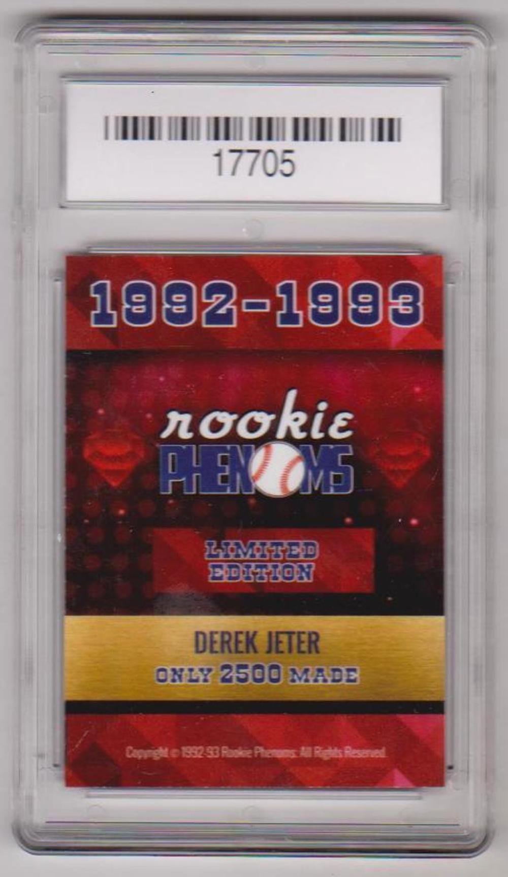 Graded Gem Mint 10 Derek Jeter 1992 93 Rookie Phenoms Ruby C