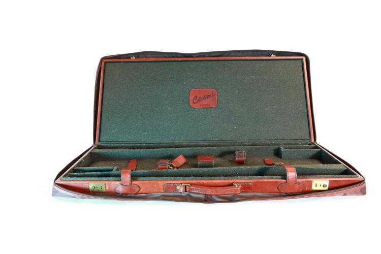 Cosmi - Ancona, leather guncase for a pair of shotguns