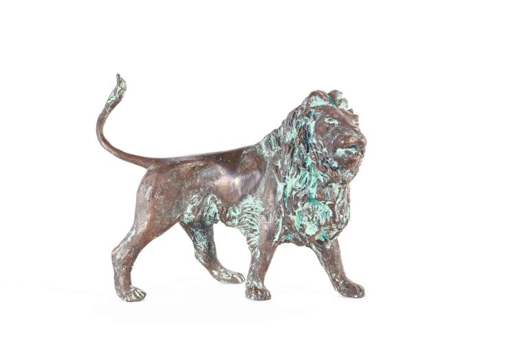 Bronze lion sculpture by Fritz Behn