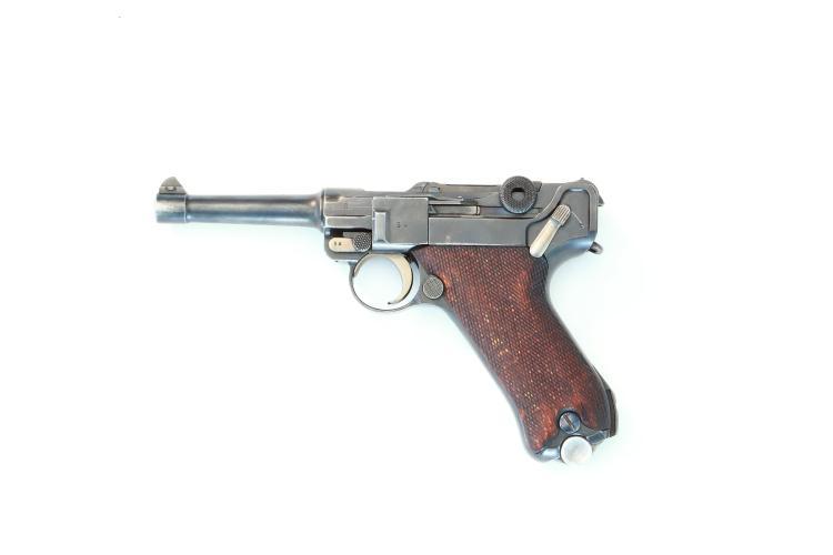 Germany, DWM, Pistole 08 Police Weimar, 9 mm Luger, #4854q, § B
