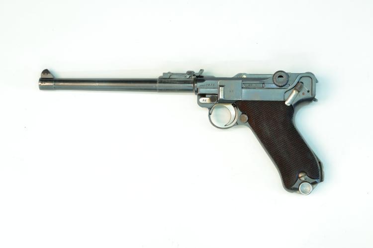 Persia, Mauser, lange Pistole 08, 9 mm Luger, #3487 (in Farsi), § B *