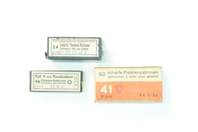 Collectors cartridges Switzerland, mixed lot