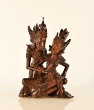 Southeast Asia Rosewood carving of Two Dancer