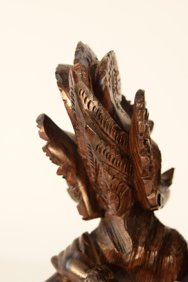 Rosewood South East Asia ~ Southeast asia rosewood carving of two dancer
