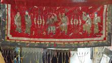 Large Red Chinese Immortal Embroidery