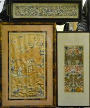 Group of Three Chinese Embroidery