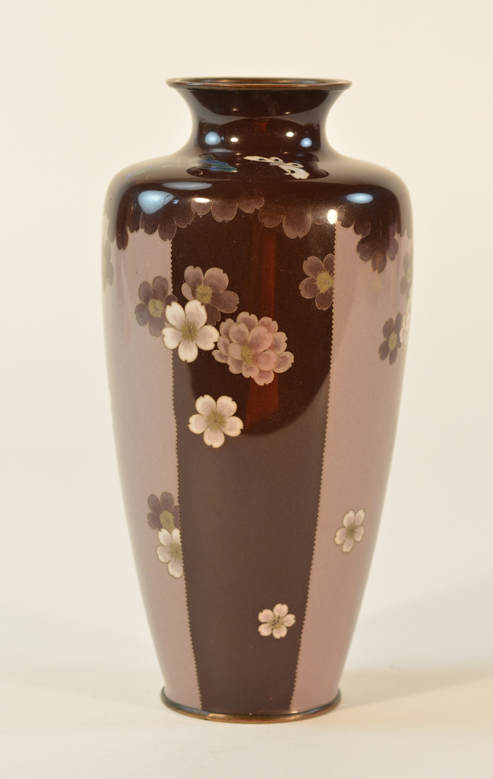 unusual japanese art deco cloisonne vase. Black Bedroom Furniture Sets. Home Design Ideas