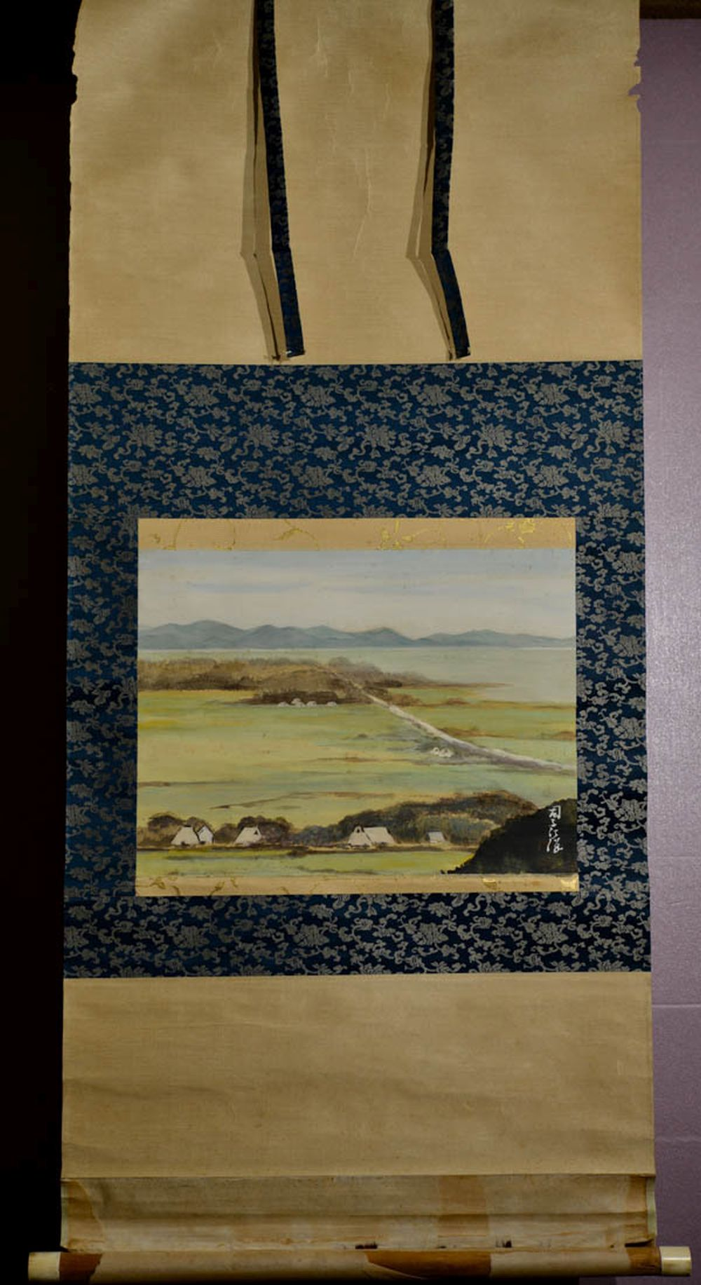 Japanese Water Color Scroll Painting - Pastrol