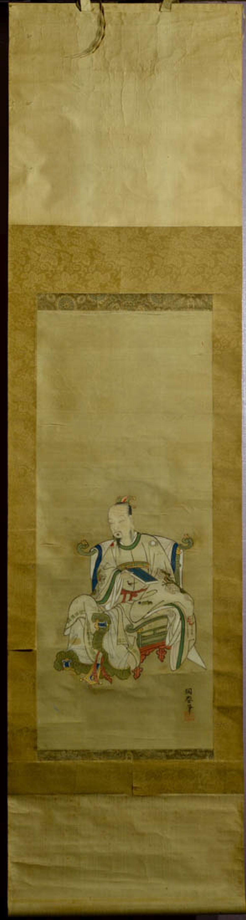 Japanese Water Color Scroll Painting - Immortal