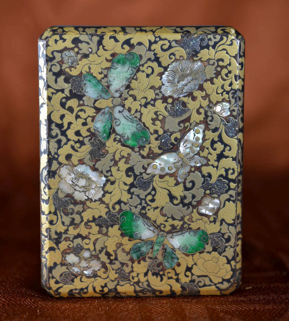 Japanese lacquer Box - Jadiete Butterfly