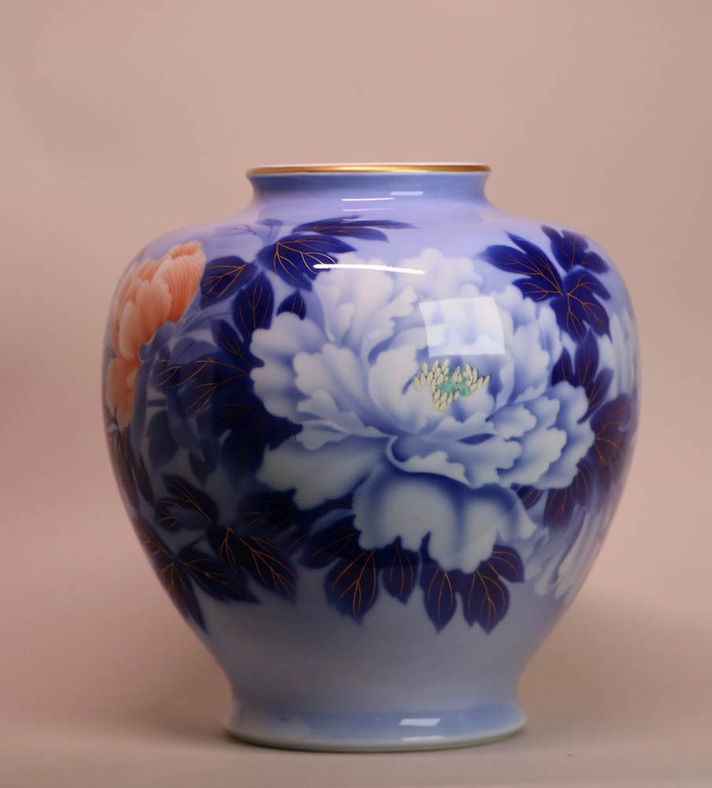 Chinese Scholar Porcelain Water Pot with landscape Scene