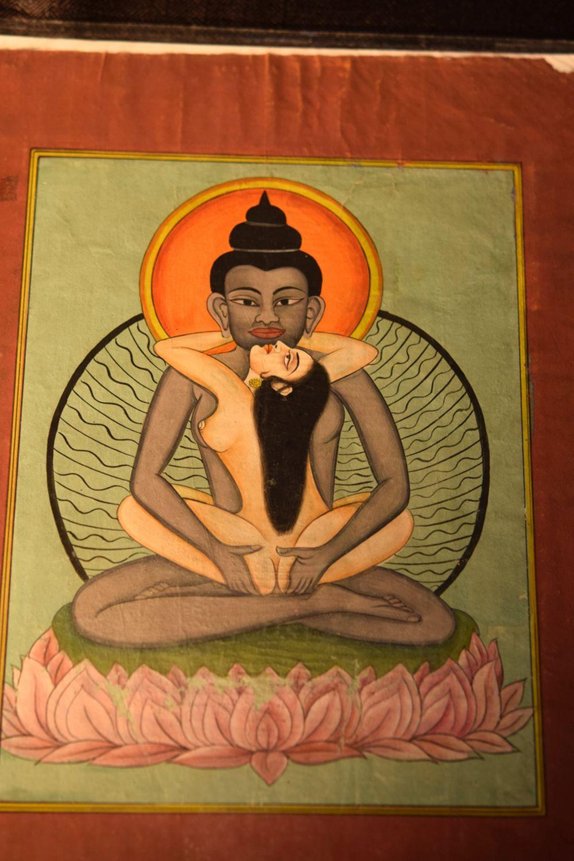 Indian Moghul Painting of Buddha