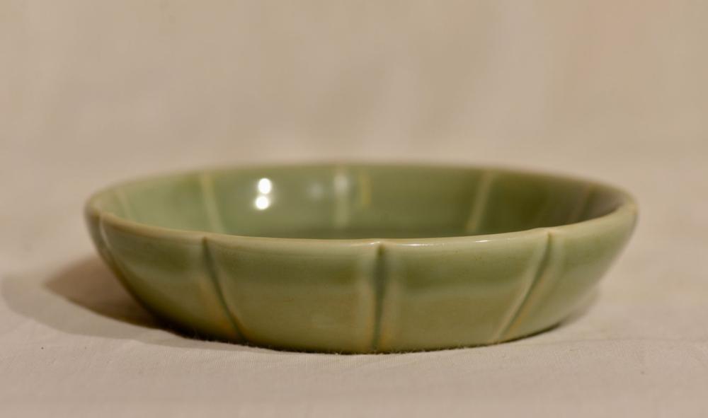 Chinese Lobbed Celadon Porcelain Dish