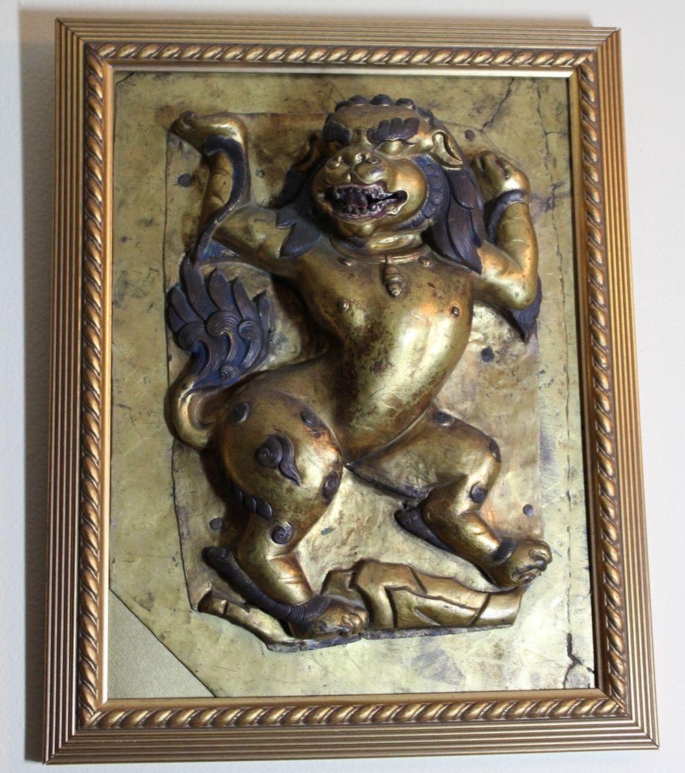 Tibet Buudhist Lion - Framed