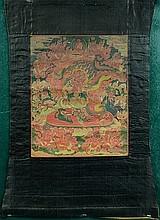 Tibetan Thangka- Red Guardian