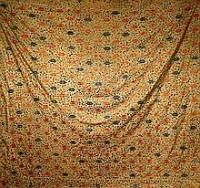 Large Chinese Yellow Buddhist Embroidery
