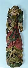 Indian Polychrome Wood Deity