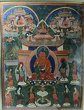 Tibetan Thangka of Shakyamuni Teachings