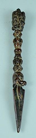 Tibetan Wood Ritual Dagger