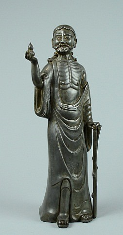 Chinese Pewter Immortal Figurine