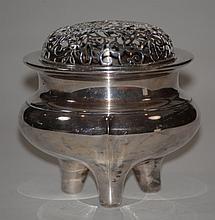 Japanese Imperial Silver Censer