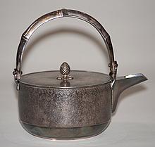 Japanese Silver Sake Wine Pot