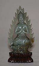 Chinese Celadon Jade Kuanyin