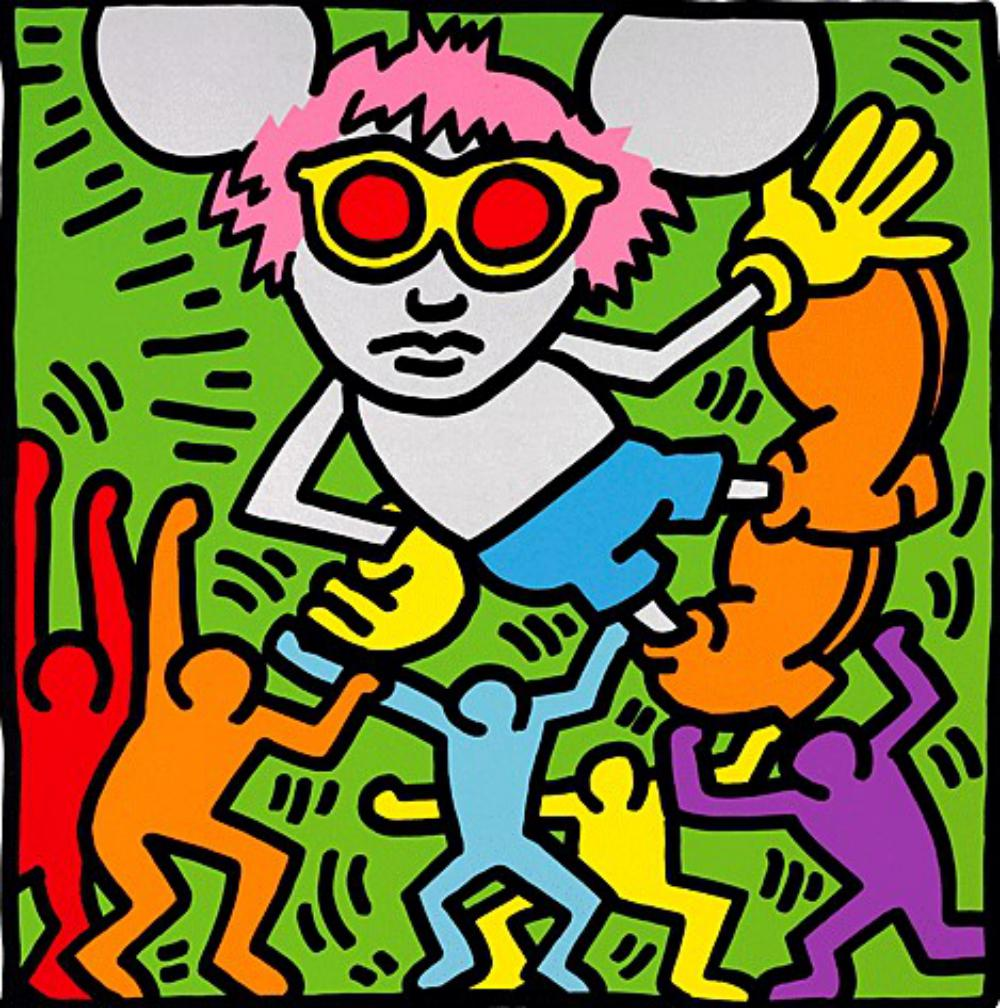 "Keith Haring ~ ""Andy Mouse"" (Dancing)"